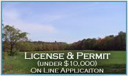 License & Permint (under $10,000) application